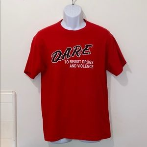 Vintage Red D.A.R.E To Resist Drugs & Violence Tee